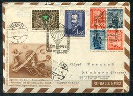 F0224 - ÖSTERREICH-12.BALLONPOST - Ganzsache Mit Zus.-Frankatur Von Rankweil > Graz > Radegund > Dieburg - Ballonpost