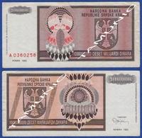 CROATIA KNIN 10000000000  Dinara 1993 - Croacia