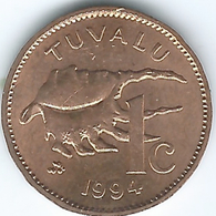 Tuvalu - Elizabeth II - 1994 - 1 Cent - KM26 - Scarce - Tuvalu