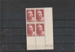 FRANCE Marianne De Gandon Bloc De 4  N° 732 ** - 1940-1949