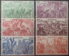 R2740/668 - 1946 - COLONIES FR. - INDOCHINE - POSTE AERIENNE - SERIE COMPLETE - N°40 à 45 NEUFS* - Airmail