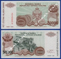 CROATIA KNIN 500000  Dinara 1993 AUNC - Croacia