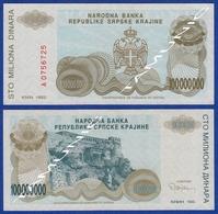 CROATIA KNIN 100000000  Dinara 1993 - Croacia