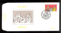 FDC - Sammy / Berck- B.D. -  Timbre N° 2619 - Tampon Halanzy - FDC