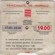 Monaco Disque De Stationnement - Vervoer