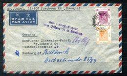 """F0230 - HONG KONG - Brief 1950 Nach Hamburg Mit Weiterleitung - """"Kein Schließfachinhaber Beim Postamt 36 In Hamburg"""" - Hong Kong (...-1997)"""