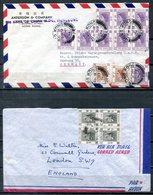 F0231 - HONG KONG - 3 Luftpostbrief Von Anfang Der 50er Jahre, Dabei Zweimal Viererblock - Hong Kong (...-1997)