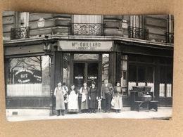 Carte Photo Café Gaillard Laurent Suc  Angle Rue Brancion Et Rue Fizeau  Paris  75 - France