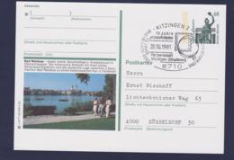 Germany Postal Stationary 1991 Monument W/print Bad Waldsee Used (G111-23) - [7] Federal Republic