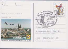 Germany Postal Stationary 1991 Jan Von Werth W/print Philatelia 91 Used (G111-23) - [7] Federal Republic