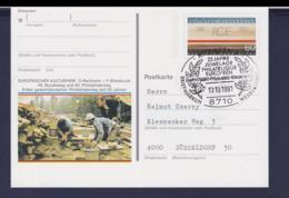 Germany Postal Stationary 1991 ICE W/print Europäischer Kulturpark Used (G111-23) - [7] Federal Republic