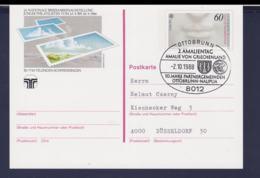 Germany Postal Stationary 1988 Europa CEPT W/print Briefmarkenausstellung Villingen Used (G111-23) - [7] Federal Republic