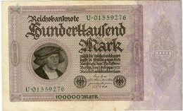 Allemagne Germany 100000 Mark 1 Februar 1923 P83a - [ 3] 1918-1933 : República De Weimar