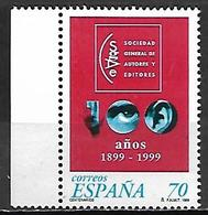 ESPAGNE    -    1999.    Y&T N° 3220 ** .   Auteurs - Compositeurs.  Oeil / Oreille. - 1931-Aujourd'hui: II. République - ....Juan Carlos I