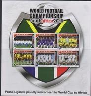 Soccer World Cup 2010 - UGANDA - Sheet MNH - Coupe Du Monde