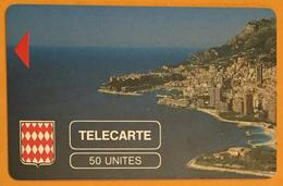 LE ROCHER DE MONACO TELECARTE RÉF PHONECOTE MF2 CORP DE CARTE SANS PUCE PHONECARD CARTE A PUCE - Monace