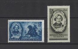 ROUMANIE.  YT  N° 1210/1211  Neuf **  1952 - 1948-.... Repubbliche