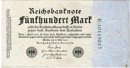 Allemagne Germany 500 Mark 7 Juli 1922 8 Chiffres P74c - [ 3] 1918-1933 : Repubblica  Di Weimar
