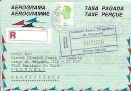 """Venezuela - Aérogramme - PP (Tasa Pagada) - Real Circulated """"1995"""" - Venezuela"""