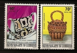 Cameroun 1982 N° 685 / 6 ** Artisanat, Sac à Main, Peau, Python, Serpent, Argile, Gargoulette, Mode, Beauté, Cuir, Femme - Cameroon (1960-...)