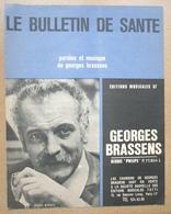 GEORGES BRASSENS Partition LE BULLETIN DE SANTE - Partitions Musicales Anciennes
