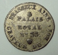 Brasseux Ainé Graveur Du Roi - 1834 - Jeton Publicitaire 19ème Siècle En étain - Notgeld
