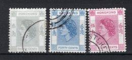 HONG KONG Yt. 181/183° Gestempeld 1954-1960 - Hong Kong (...-1997)