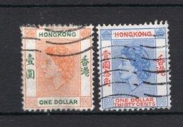 HONG KONG Yt. 185/186° Gestempeld 1954-1960 - Hong Kong (...-1997)