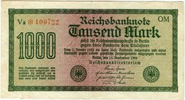 Allemagne Germany 1000 Mark 15 September 1922 P76g - [ 3] 1918-1933 : Weimar Republic