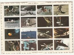 UMM AL QIWAIN - BLOC Cartonné ** (1972) ESPACE - Histoire Du Cosmos : Apollo 15 - Asia