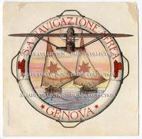 ETICHETTA S.A. NAVIGAZIONE AEREA GENOVA LABEL - Barcos