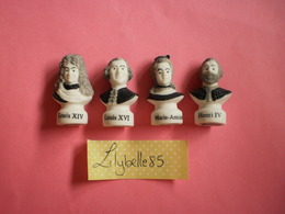 Série Complète De 4 Feves PERSO Porcelaine - BOULANGERIE GUINON VERSAILLES PARIS 2018 ( Feve Figurine Miniature ) RARE - History