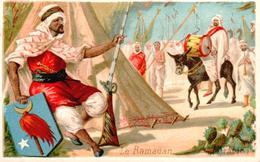 Vers 1890 LE RAMADAN (au Dos Publicité Popot Lemoult Chartres) - Islam