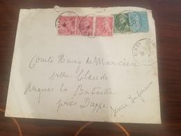 NOBLESSE GENEALOGIE Enveloppe Adresse Au Monsieur Le Comte Henry De Marcien Arques La Bataille 1938 - Vieux Papiers