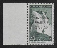 """CAMEROUN 1940 - YT 218** - """"4"""" BRISE - Cameroun (1915-1959)"""