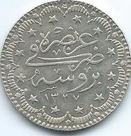 Turkey - Ottoman - Mohammed V - AH1327 / 1 (1909) - 5 Kurus - KM786 - Bursa Mint Visit - Turquia