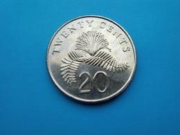 SINGAPOUR  -  Singapore  -   20  Cents  1997   -- SUP -- - Singapur