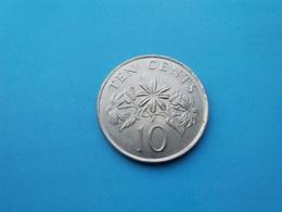 SINGAPOUR   -  10 Cents   1985  -- SUP   -   SINGAPORE - Singapur