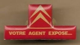 """Pin's Logo Citroën """"votre Agent Expose..."""" 7 Rue Henri Sainte-Claire Deville (92) Rueil-Malmaison - Citroën"""