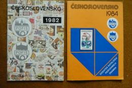 LE LOT 3 CATALOGUES CESKOSLOVENSKO ANNEE 1984   1982 ET 1.1.85 A 30.06.87 ECRIT EN TCHEQUE - Catalogues De Cotation