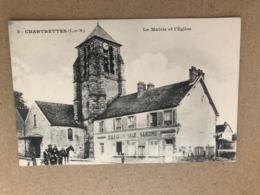 Chartrettes  La Mairie Et L'église     Seine Et Marne 77 - Autres Communes