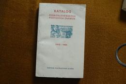 CATALOGUE CESKOSLOVENSKO ANNEE 1970 A 1988 ECRIT EN TCHEQUE - Catalogues De Cotation