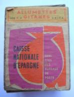 Boîte D'allumettes En Bois Caisse Nationale D'épargne - Scatole Di Fiammiferi