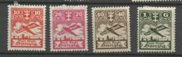 Danzig  1924  Mi.Nr.:202-206 Air Mail Issue Mint Hinged X - Danzig