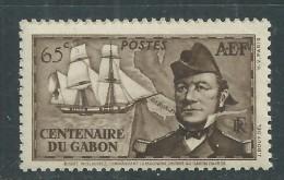 A. E. F.  N° 66 XX   Partie De Série : Centenaire De La Présence Française Au Gabon : 65 C. Brun  Sans Charnière, TB - Unused Stamps