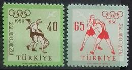 TURQUIE TURKEY POSTE AERIENNE N° 35 Et 36 COTE 2 €  NEUFS ** MNH 1956 JEUX OLYMPIQUES DE MELBOURNE - Summer 1956: Melbourne