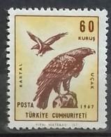 TURQUIE TURKEY POSTE AERIENNE N° 48 COTE 1 €  NEUFS ** MNH 1967 AIGLE ROYAL - Posta Aerea