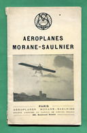 Brochure AEROPLANES MORANE-SAULNIER 1913 - AeroAirplanes