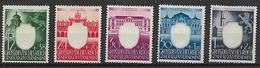 GERMANIA REICH 1941 3°ANNIVERSARIO DEL PARTITO DEI LAVORATORI YVERT. 123-127 MLH VF - Occupation 1938-45