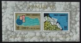 TURQUIE TURKEY BLOC FEUILLET N° 14 COTE 3 €  NEUF ** MNH 1967 - 1921-... République